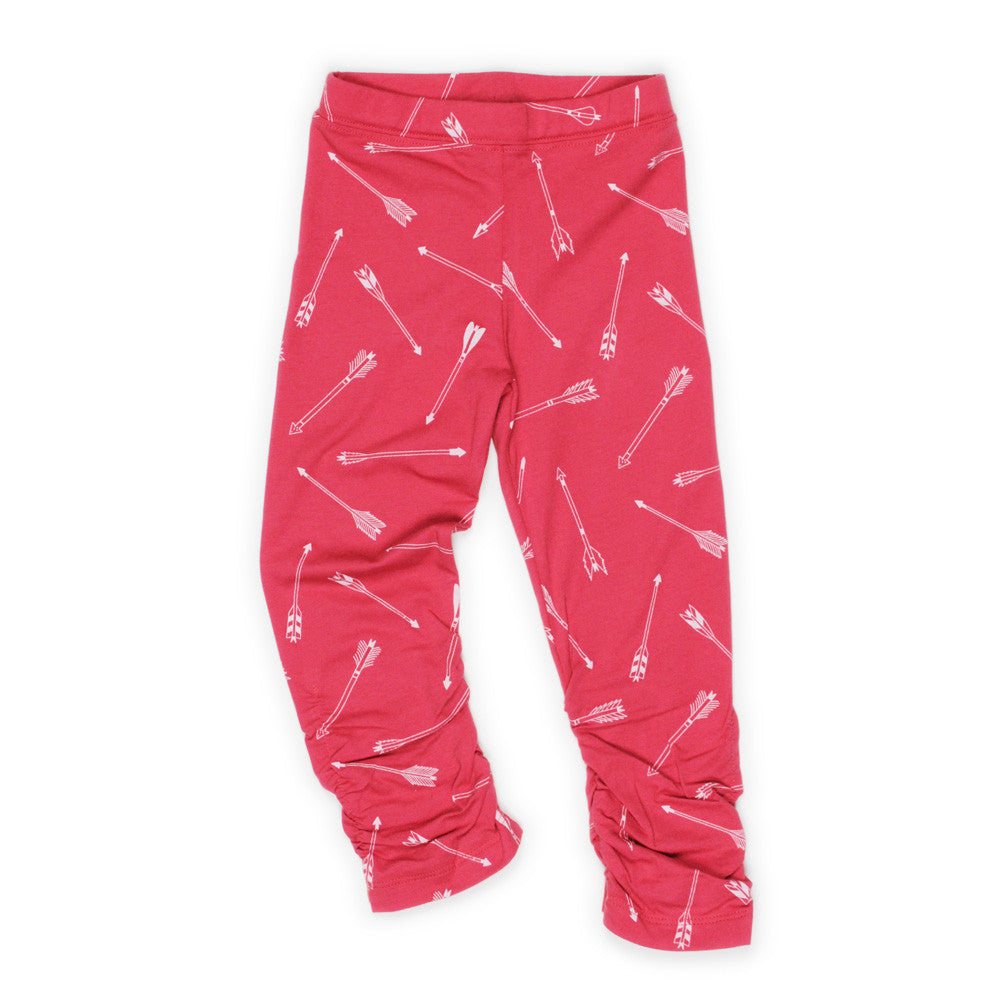 Red Scrunch Ankle Legging - Well Grounded Co Bottoms