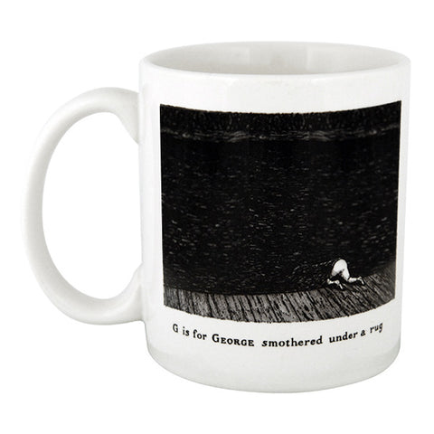 G is for George smothered under a rug Mug
