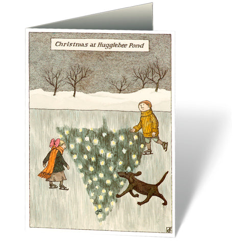 Christmas at Hugglebee Pond Holiday Notecards (Set of 12)