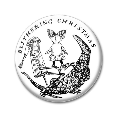Blithering Christmas Round Magnet