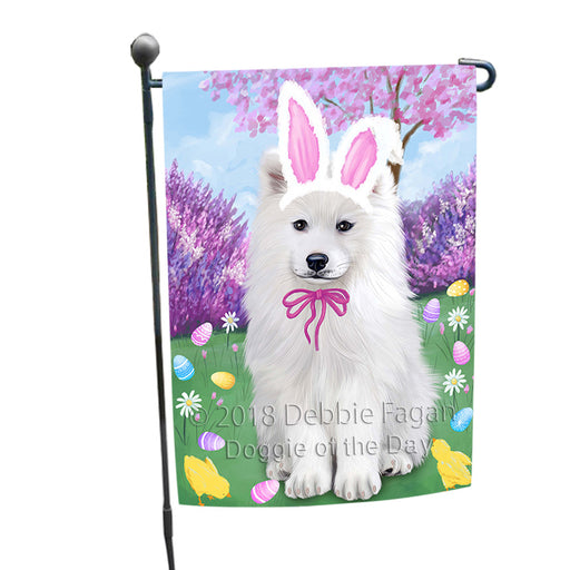 Samoyed Dog Easter Holiday Garden Flag GFLG57012