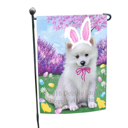 American Eskimo Dog Easter Holiday Garden Flag GFLG54293