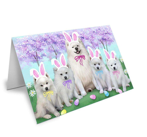 American Eskimos Dog Easter Holiday Note Card NCD51404