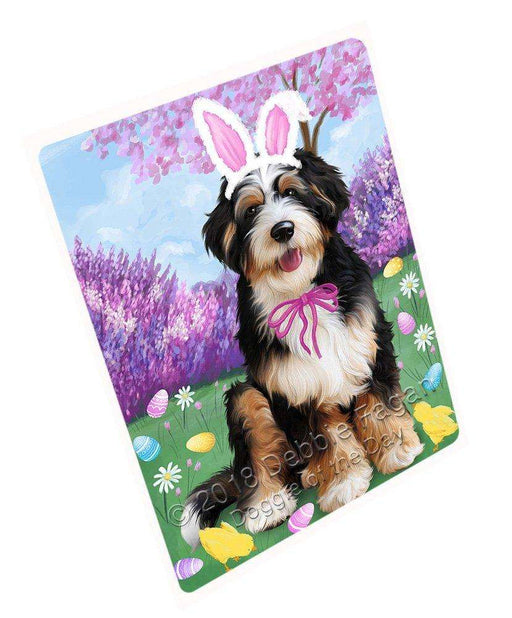 Bernedoodle Dog Easter Holiday Tempered Cutting Board C51012