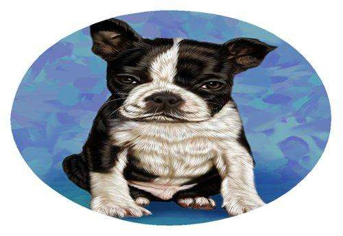 Boston Terrier Puppy Dog Oval Envelope Seals
