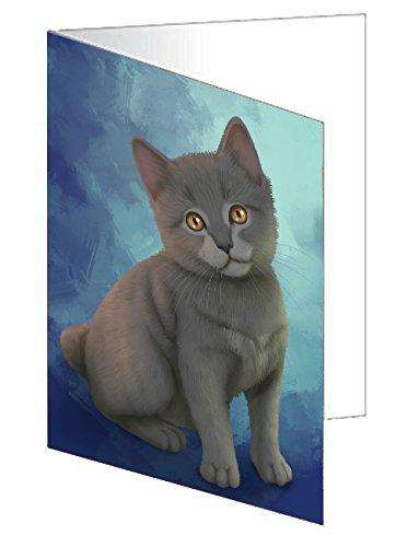 Chartreux Cat Greeting Card