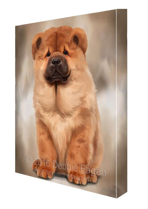 Chow Chow Dog Art Portrait Print Canvas