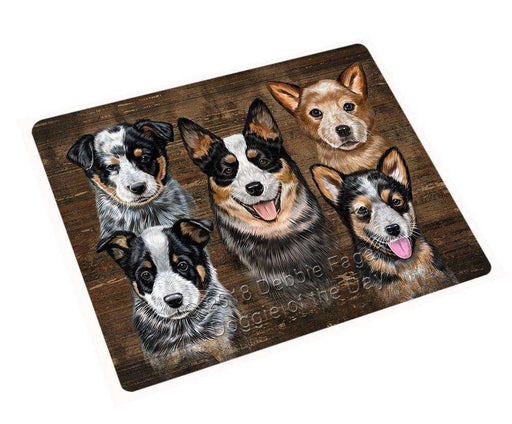 "Rustic 5 Australian Cattle Dogs Magnet Mini (3.5"" x 2"") MAG52485"