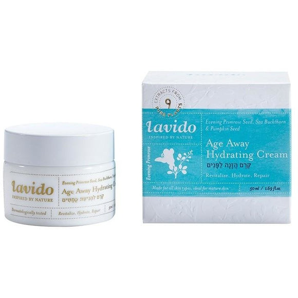 Lavido: Age Away Hydrating Cream Evening Primrose, Sea Buckthorn, & Pumpkin Seed