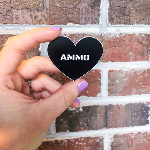 Ammo Love Heart Sticker