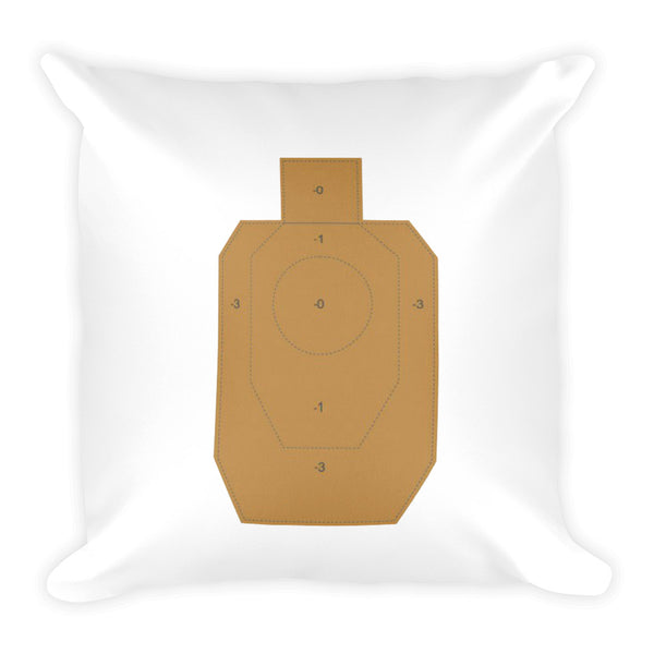 Coffee Mascara Holster Dry Fire Pillow, IDPA Style Target