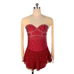 Royal Diamond Skating Dress | Wine Red | Adult S