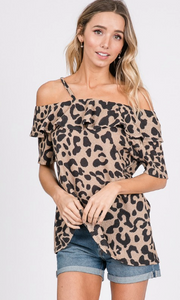 Animal Print, Ruffles & Cold Shoulder