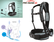 Minelab PRO-SWING 45 harness for weightless detecting Chicago metal detecting easy to use lightweight and flexible. Lightweight with any metal detector rent buy