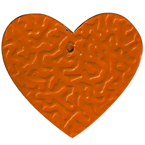Tin Heart C-2003-100pcs Orange (RRP $4.5)