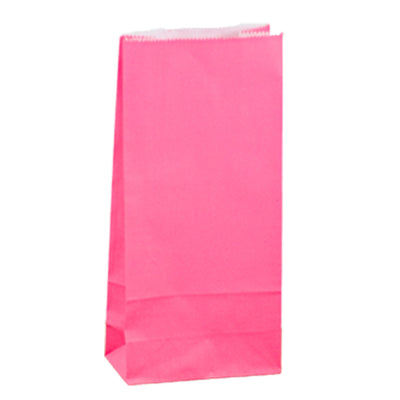 Paper Lolly Bag - Pink- 10 Pack
