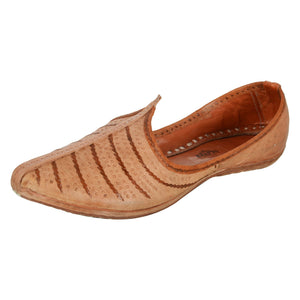 Peach Brown Leather Mojri for Men