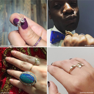 Instagram jewelry posts for Gems of Meatpacking at Doyle & Doyle