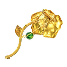 Vintage Citrine Enamel* Flower Pin