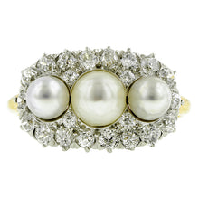 Edwardian Pearl & Diamond Ring::Doyle & Doyle
