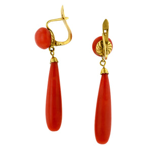 Victorian Coral Drop Earrings : Doyle & Doyle