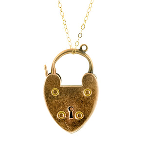 Antique Heart Padlock::Doyle & Doyle