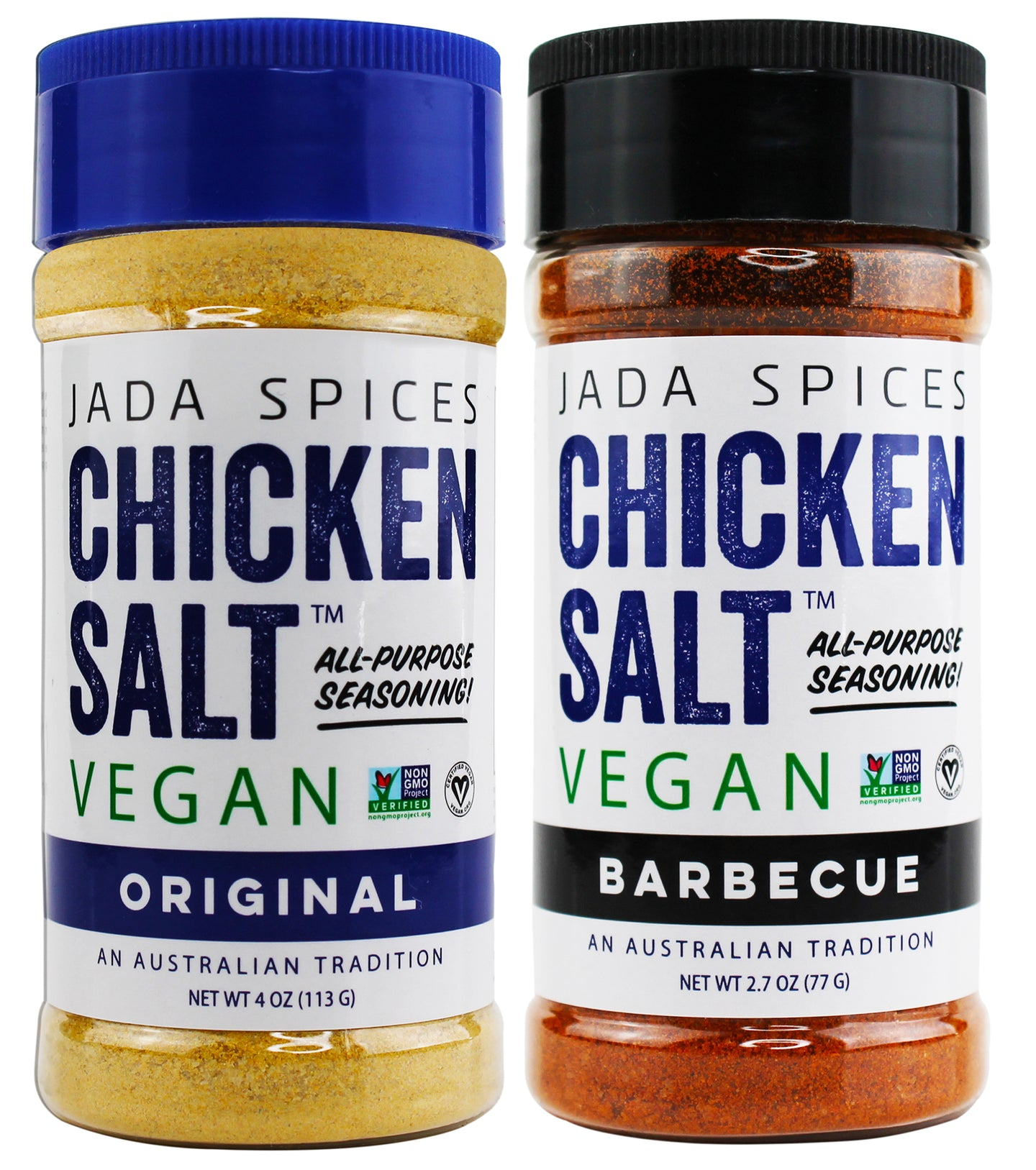 chicken salt vegan and vegetarian seasoning original and barbecue flavors