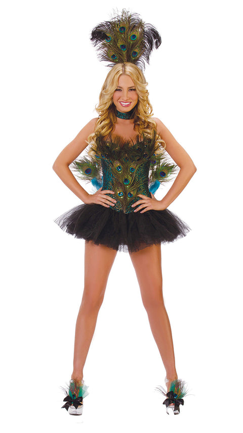 Starline Women's Peacock Costume Womens Adult Sized Costumes - Nastassy
