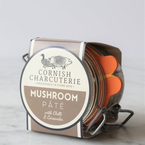 Cornish Charcuterie's award-winning mushroom pâté with chilli and coriander is rich and buttery.