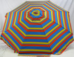 6' Beach Umbrella Sunrise with wooden pole by Sunspecs
