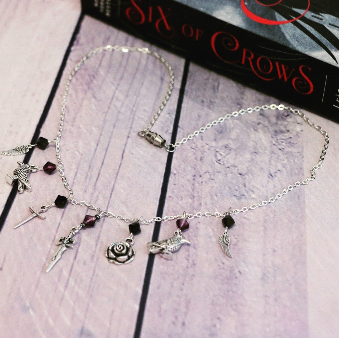 "Six of Crows Inej Ghafa ""The Wraith"" Silver Charm Necklace"