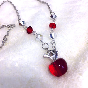 The Lunar Chronicles Winter / Snow White Apple Necklace