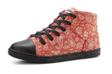 DEZZYS RED BANDANA HI TOP CANVAS SNEAKERS
