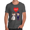 Personalised Wedding Heart Balloon Men's T-Shirt