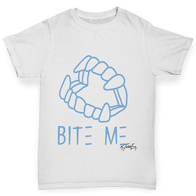 Bite Me Blue Girl's T-Shirt