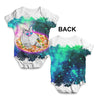 Surfing Pizza Cat In Space Baby Unisex ALL-OVER PRINT Baby Grow Bodysuit