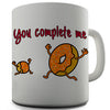 Doughnut You Complete Me Novelty Mug