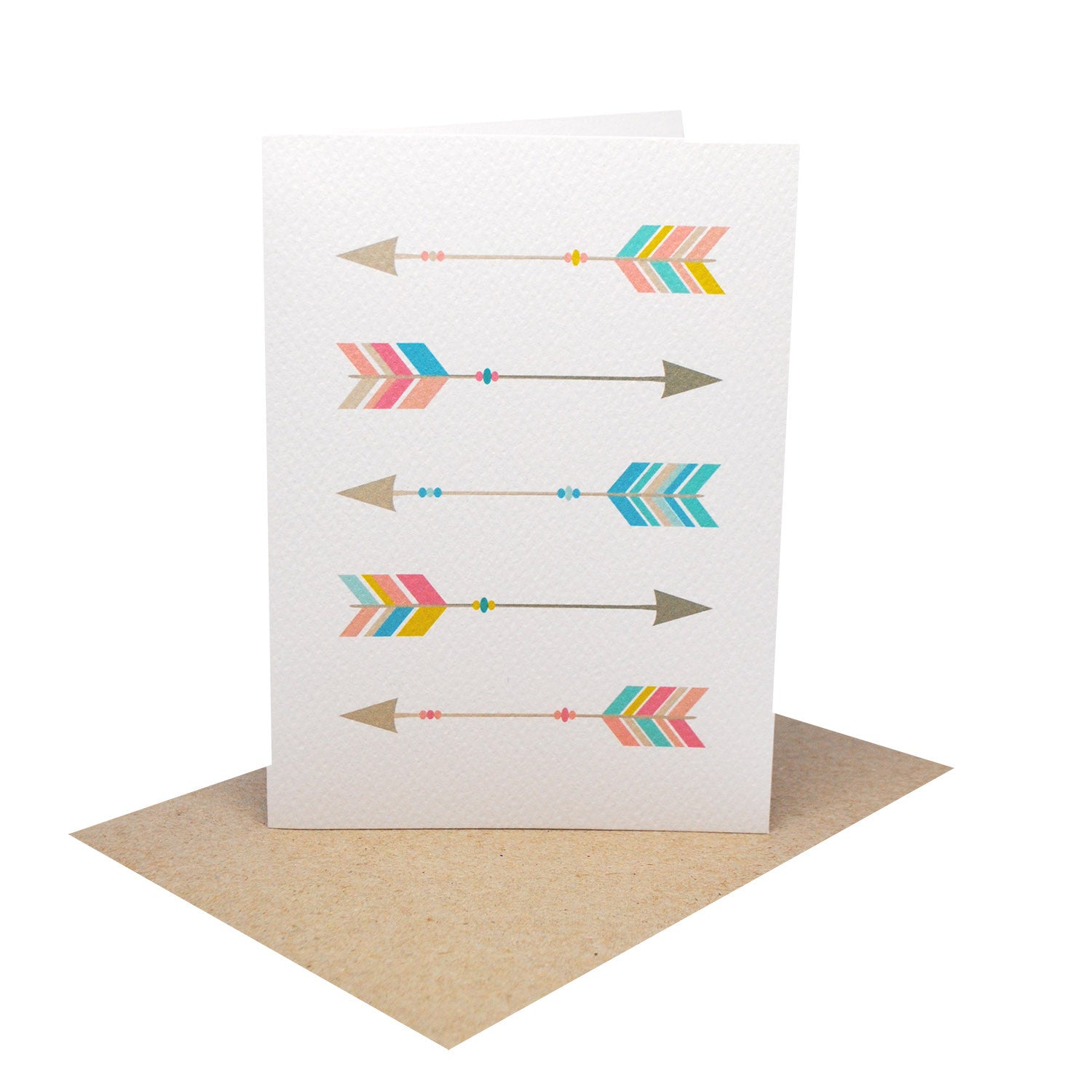 Geometric Arrows Greeting Card by mumandmehandmadedesigns- An Australian Online Stationery and Card Shop