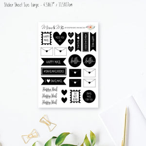Stickers Large - Snail Mail Planner Stickers by mumandmehandmadedesigns- An Australian Online Stationery and Card Shop