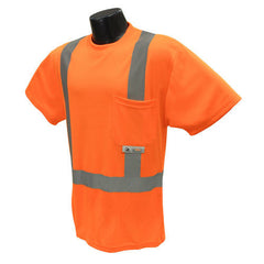 Radians ST11-2POS Orange Safety Class 2 Hi-Viz T-Shirts W/Maxi-Dri Wicking Mesh - US Safety Supplies