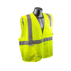 RADIANS SAFETY VEST ANSI CLASS 2 LIME HIGH VISIBILITY REFLECTIVE SV2GM - US Safety Supplies