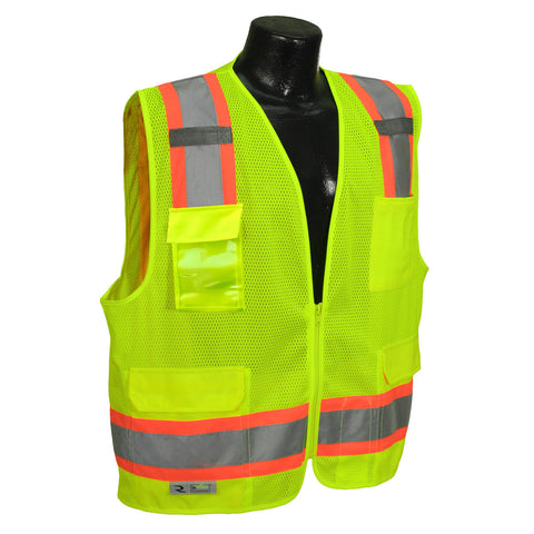 RADIANS SV6-2ZGM SAFETY VEST - ANSI Two Tone Surveyor Class 2 Safety Mesh Vest
