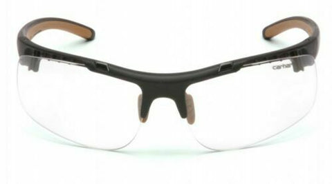 Carhartt Rockwood Safety Glasses Black Frames and Clear Lens Anti Fog CHB710DT