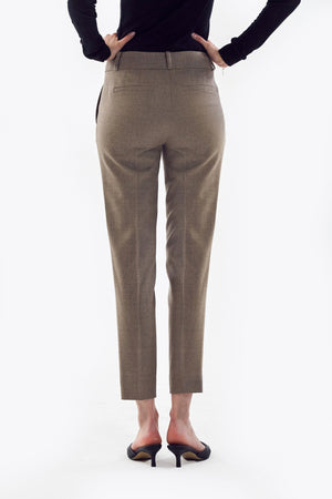 Beige Wool Pants