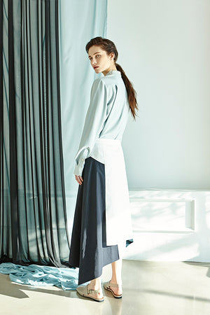 3-Color Unbalanced Slit Skirt
