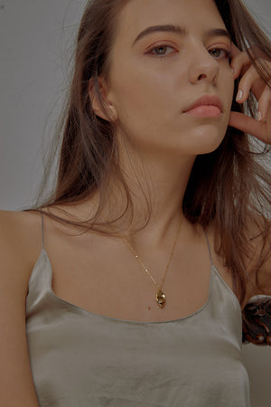 Fluid Frame Gold Necklace