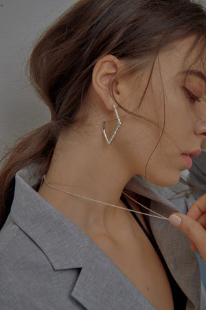 Fluid Frame Hoop Earrings