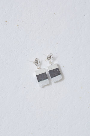 Silver-Plated Natural Stone Earrings