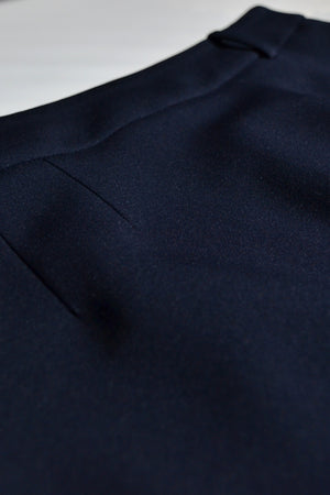 navy stretchy machine washable skirt
