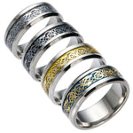 Sign of Leadership and Proparity. High quality jewelry Dragon 316L stainless steel Ring Wedding Band.